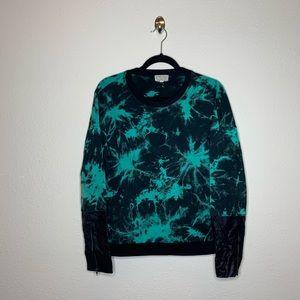 Lucca Couture Green Mixed Sleeve Tiedye Sweatshirt